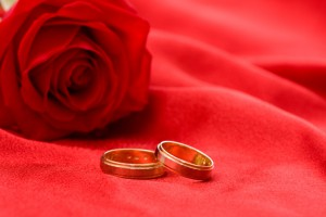 Yellow Gold wedding rings for him and her